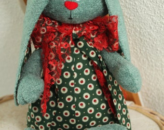 Green polka dot Bunny rabbit plush