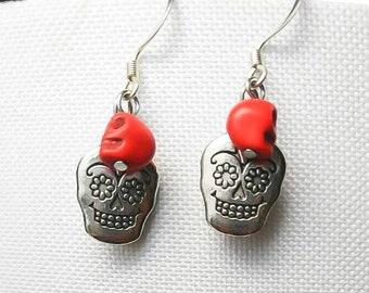 Day of the dead earrings.