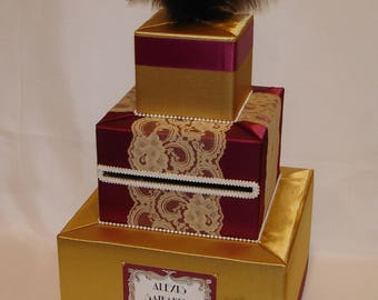 Gatsby themed Card box -any colors