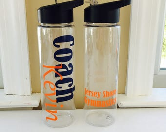 Personalized Coaches Gift, Coaches Gift, Personalized Water Bottle, Coach Appreciation, Thank You Coach, Gift For Coach