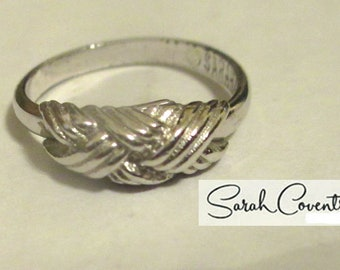ANTIQUE Sarah Coventry Vintage Jewelry - Interweave Ring  #5779