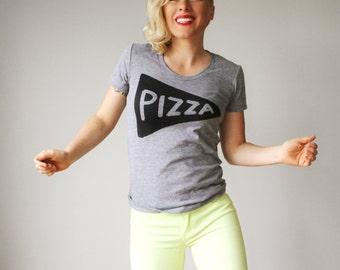 Pizza Shirt, Pizza Tshirt, Womens Gift, Mother Gift, funny tshirt, Tri Blend Track, Womens T Shirt, Mom Shirt, Pizza Party, graphic tees