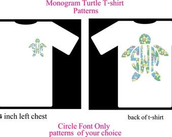 Monogram Shirt, Monogram Turtle Shirt