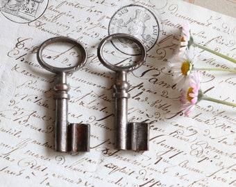 "2 old little french  keys :  2, 4 "" long"