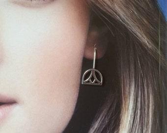 Sterling Silver Egyptian Lotus Earrings