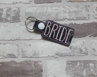 Bride wedding keyring