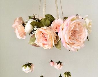 Vintage Rose & Peony Floral Mobile