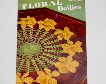 Floral Doilies 1949 Clarks J.&P. Coats Book No 258 Crochet Patterns
