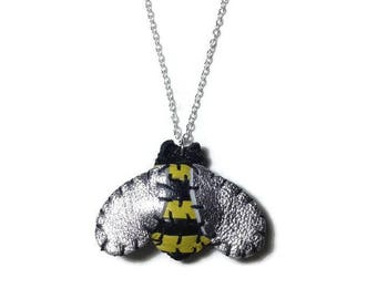 Yellow Baby Bumble Bee Necklace