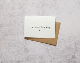 Happy wedding day // Greeting card