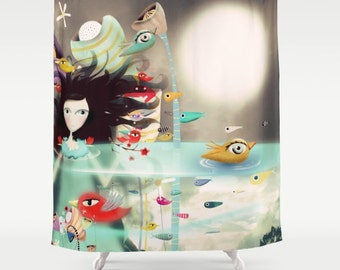 Shower Curtain - Light and transparency Whimsical Moon