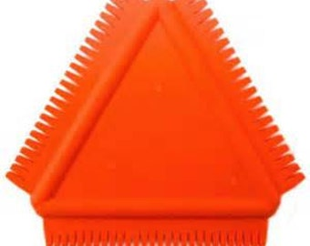 Rubber Texture Comb by Kemper, use on clay, gelli plates and more.
