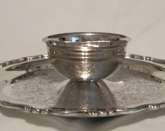 Amazing American Silverplate Chip/Veggie/Shrimp and Dip/Sauce Tray