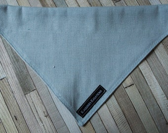 Slate Linen Collar Bandana