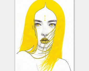 """A4 """"Yellow I"""" Open Edition Print"""