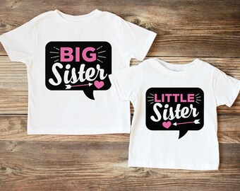 Big Sister Little Sister Shirts - Big Sister Little Sister Set - Matching Sibling Outfits - Big Sister Little Sister Outfits Photo Props