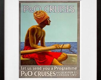 Travel Wall Art Print Cultural Vintage Travel Poster (TR71)