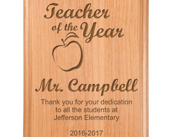 Teacher of the Year Plaque