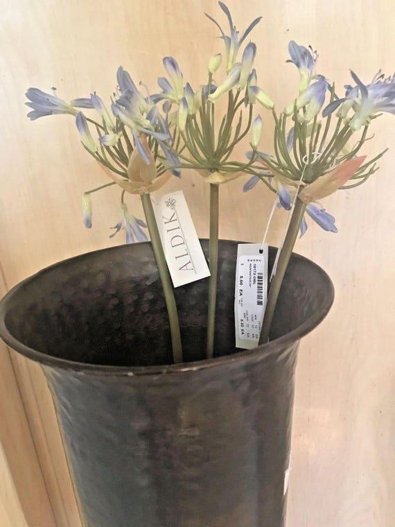 Agapanthus silk artificial silk wedding bouquet flowers set of 3 28 agapanthus silk artificial silk wedding bouquet flowers set of 3 28 aldik new dark blue mightylinksfo