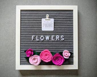 Felt Letter Board Flowers // Accessories for Felt Letter Boards // Decor for Letter Boards // Photo Props // Party Decor // Everyday Decor