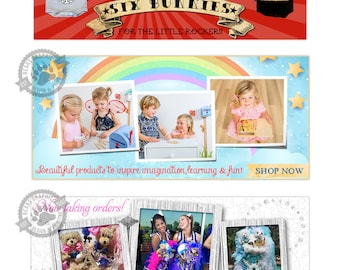Custom Blog Banner or Website Header Blogger Banner WordPress Header Slideshow Image Web Slides