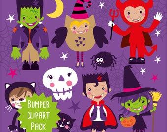 Halloween clipart commercial use, Halloween  clipart vector graphics, Halloween digital clip art, Halloween  images - CLIP005