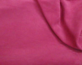 "Suede Leather 8""x10"" Brilliant ROSE Pink Garment Grade Cowhide 3.25-3.75 oz /1.3-1.5 mm PeggySueAlso™ E2825-22"