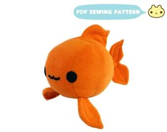 Goldfish Plush Sewing Pattern, Koi Toy PDF, Plush Gold Fish Sewing, Toy Pattern, Fish Sewing Pattern, Stuffed Animal Pattern, Fish Plush Toy