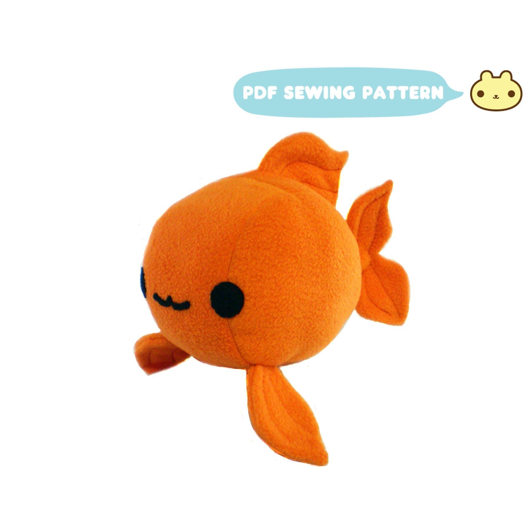 Goldfish plush sewing pattern koi toy pdf plush gold fish zoom jeuxipadfo Image collections