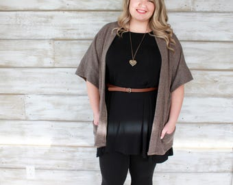 Cardigan Sweaters for Women, Kimono Cardigan, Kimono Boho, Boho Cardigan, Plus Size Fashion, Plus Size Sweaters, Short Sleeve Sweater