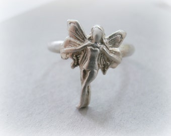 Fairy ring sterling silver - Sugarplum fairy ring - Sterling silver metalwork ring - Elven sterling silver ring