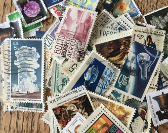 Postage Stamps, Vintage Uk and Overseas, Assorted Postage Stamps, Vintage Ephemera, Altered Journals, Scrapbooking, Card making