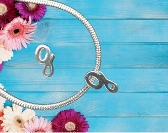 Lowercase 'g' Sterling Silver Charm Necklace With Gift Box