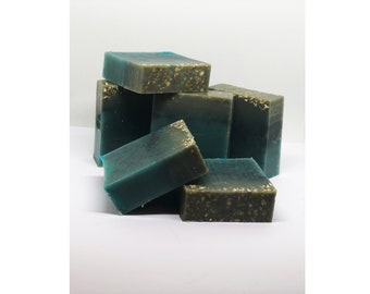 Organic handmade Dead Sea Mud soap with Sea Weed and Sea Salt extract x 2