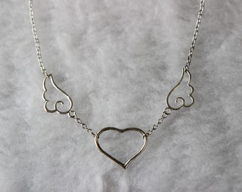 Silver Kawaii Angelic Necklace