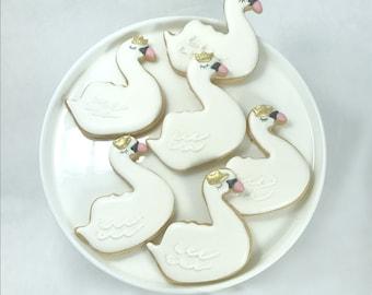 Swan Party Cookies - Crown - Cookies - 1 dozen