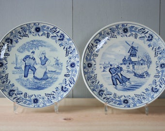 2 wall plates Dutch Delft Blue by BOCH