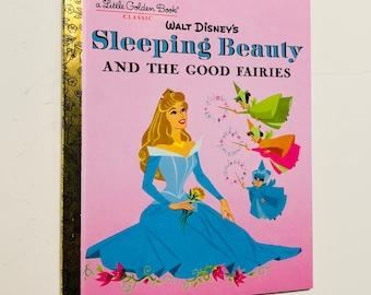 New Disney Sleeping Beauty Good Fairies Repurposed Little Golden Book Planner/Sketchbook/Journal/Autograph book