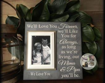 Grandma and Grandpa Gift ~Grandparents Gift ~Gifts For Grandparents ~Custom Picture Frame ~Grandkids Frames ~Photo Frames ~Nonna
