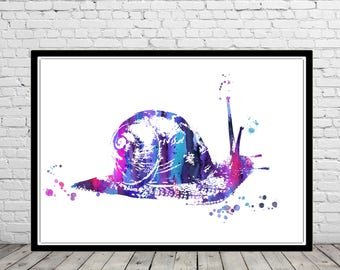 Escargot, escargot décor, art escargot, escargot impression, art mural escargot, escargot impression, art escargot, escargot aquarelle, aquarelle impression
