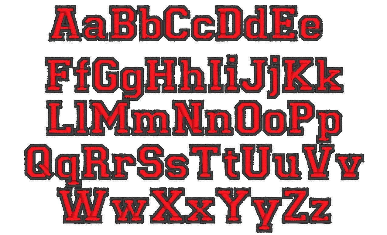 varsity collegiate collegiate type font machine embroidery