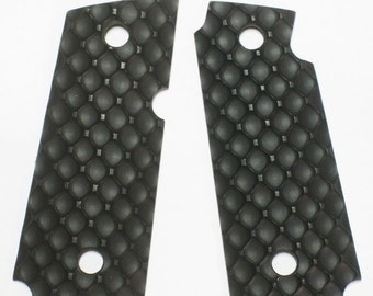 "Duragrips - Kimber Micro Carry .380 Tactical Grips - "" D Fence "" - Black"