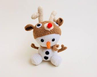 Crochet Snowman Amigurumi