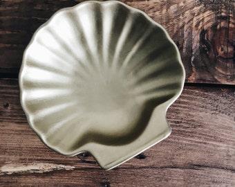 Hand Painted Seashell Dish
