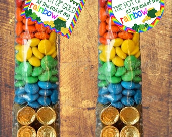 St. Patrick's Day You're the Pot of Gold at the End of my Rainbow Favor Printable(St. Pattys Day Party,Instant Download,Gold,Rainbow,School)