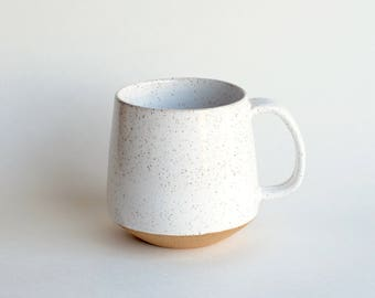 Ceramic Coffee Mug - MADE TO ORDER - Handmade Mug - Pottery Mug - Modern Mug - White Mug - Rustic - Unique Coffee Mug - Ceramic Mug