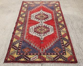 FREE SHIPPING!!! Vintage Oushak Rug, Turkish Rug , Anatolian Rug , Vintage Rug , Boho Rug, Muted Colors Oushak  206 x 114 cm / 6.7 x 3.7 ft
