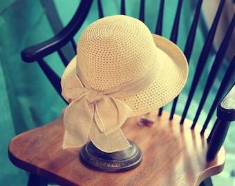 Women's summer straw hat-Straw Hat -sun hat Beach hat