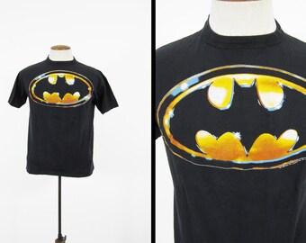 Vintage Tim Burton Batman T-shirt 1989 Black 80s Cotton Movie Tee Made in USA - Medium