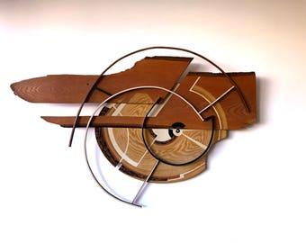 Impressive original Mid Century Thorn wall art sculpture March 1975 WHIRLWIND Modernist